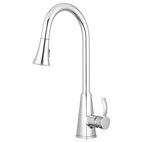 Bridgeport Pull Down Kitchen Faucet By Pacific Bay  Chrome    Features Multiple Spray Functions  And An Eco Friendly Water And Energy Saver   New 2018 Model