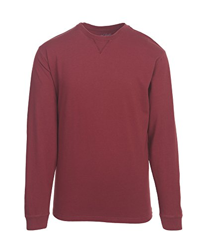First Fork (Woolrich Men's First Forks Long Sleeve Tee Shirt, -Deep Ruby, Large)