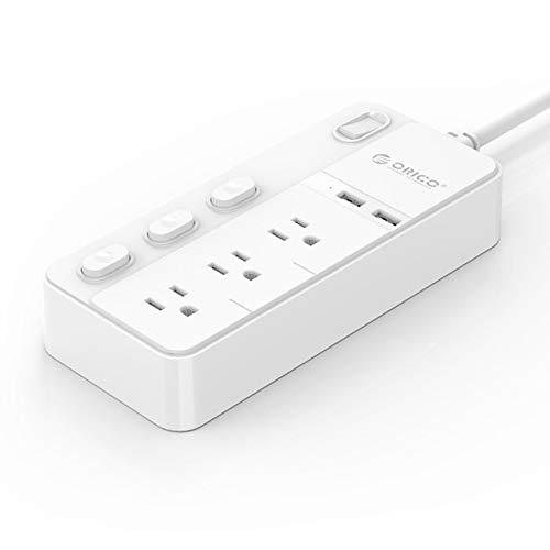 Jammas Universal Power Strip US Type Extension AC Power Socket Surge Power Strip With 2 Port USB Charger Ports 3 Outlet for - (Standard: US Plug, Color: type2 NPC-4A2U)