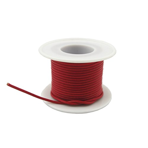 (Glory Qin Soft Round Genuine Jewelry Leather Cord Leather Rope (Red 2mm 10 Yards))