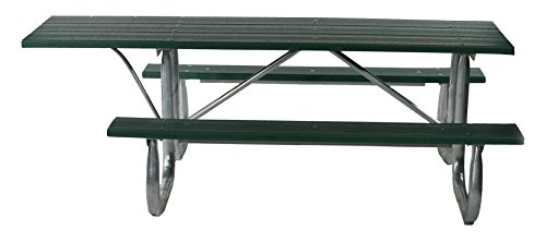 Frog Furnishings Galvanized ADA Picnic Table, 6', Gray