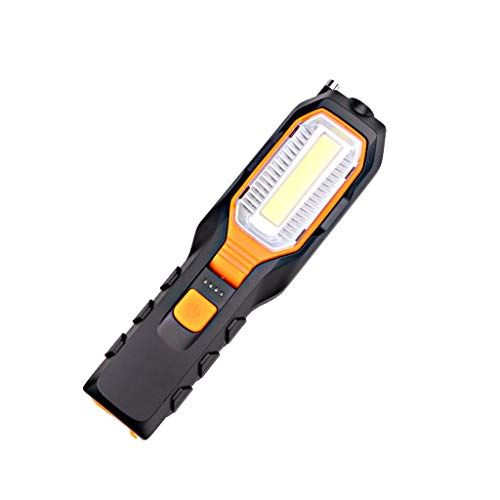 HCDjgh Magnet Rotatable COB LED Work Light Inspection Flashlight Antenna Movable Lamp Outdoor Water Resistant Torch, Powered Tactical Flashlight for Camping Hiking etc