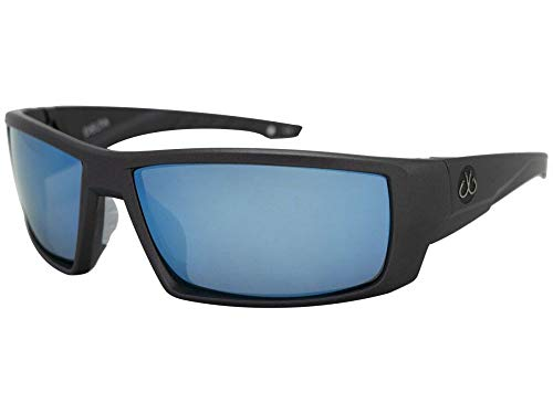 (Filthy Anglers Delta Fishing Sunglasses Matte Graphite with Blue Mirror)