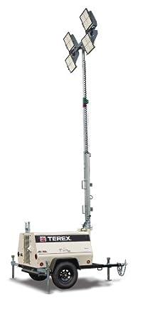 Terex AL5L Fuel Saving Portable LED Light Tower, Hybrid Battery/ 8kW Generator Powered, 1080 Watts of Light