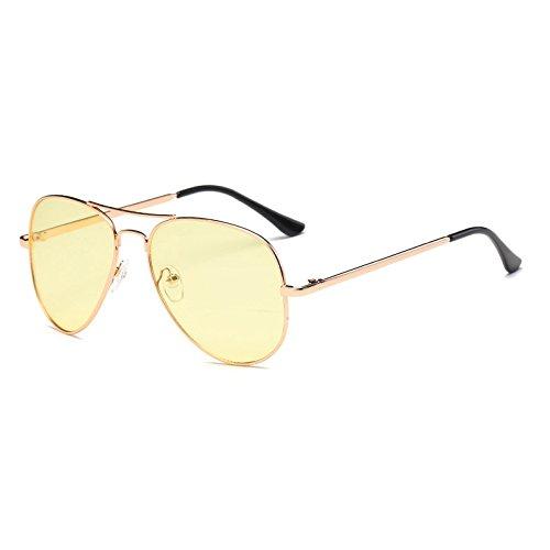 los Amarillo Rosa Boutique Rojo Las Metal de Vintage Stlye Amarillo Fygrend Calle UV400 Oculos del de Sombras Gafas Mujeres Azul de vidrios Sol Retro Mujer Aviador Azul PyHP6WvU