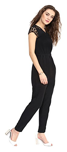 601b5fa69783 Uptownie Lite Women s Crepe Polka Lace Detailed Jumpsuit  Amazon.in   Clothing   Accessories