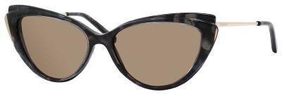 Yves Saint Laurent 6346 (02N05L) Havana Green Gold / C w/ Gray Green Lens - Ysl Havana Sunglasses