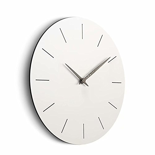 FlorLife Wall Non Ticking 12 Atomic Movement for Kitchen, Bathroom, Bedroom, Office