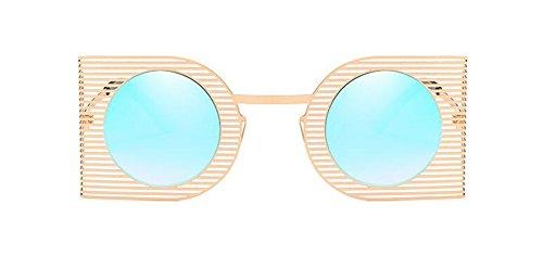 Hommes Polarisées Bleu Cercle en Inspirées Lunettes Rond Métallique Retro du Femmes Style et de Glacier Steampunk Soleil Pour zEwRwqOa