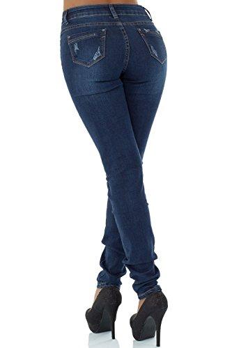 Skinny malucas Femme Jeans Bleu Bleu Bleu v5wOA1Yn