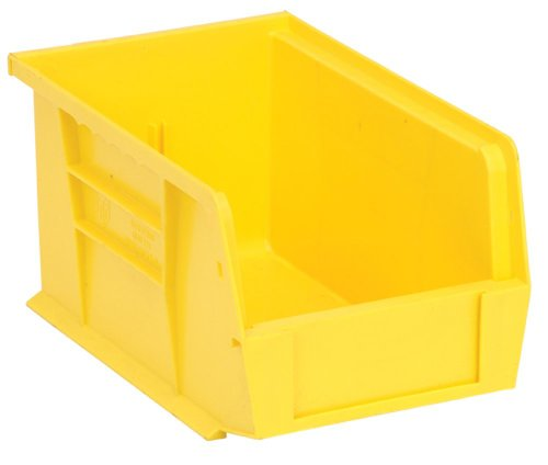 Quantum QUS221 Plastic Storage Stacking Ultra Bin, 9-Inch by 6-Inch by 5-Inch, Yellow, Case of 12