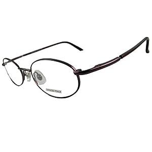 Men Women Eyeglass Frames Vintage Round/oval Metal Spring Hinges (Burgundy)