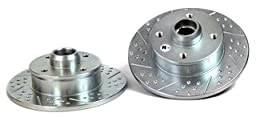 BAER 03483-020 Sport Rotors Slotted Drilled Zinc Plated Rear Brake Rotor Set - Pair