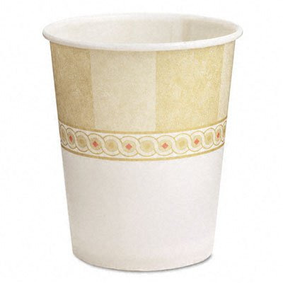 pacity, Sage WiseSize Wax Treated Paper Cold Cup (24 Packs of 50) (Paper Cold Cup Sage)