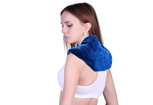 Neck + Shoulder Wrap - Hot & Cold Therapy – Natural Clay Beads - provides moist heat or soothing cool stress and pain relief