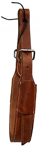 """Showman American Made 3"""" Wide Oiled Harness Leather for sale  Delivered anywhere in USA"""