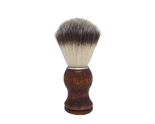 Shaving Brush, QSH Synthetic Brush Hair Knot with Engineered Wooden Handle Shaving Brush for Safety Razor, Double Edge Razor, Shaving Razor