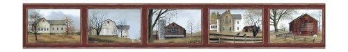 (York Wallcoverings Best Of Country HK4659BD Framed Scenic Border, Burgundy)