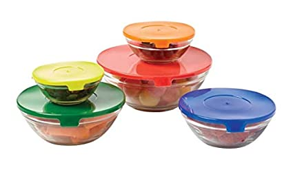 e6d71a8e2 Amazon.com: FARBERWARE FG8617 10-Piece Bowl Food Storage Set, 7x4x7 ...