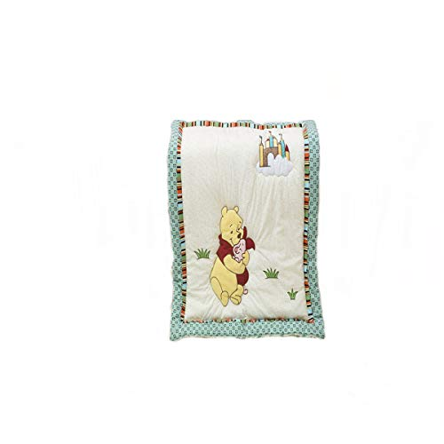 (CribMATE Winnie The Pooh Quilted Comforter Unisex Baby Toddler Quilted Blanket (Bear))