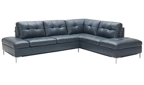 (Leonardo Premium Right Hand Facing Sectional Sofa with Storage in Blue)