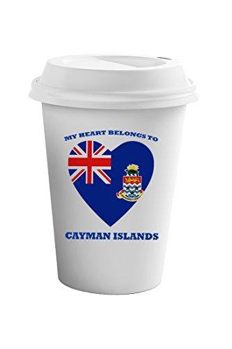 Cayman Travel Tumbler - Style In Print Love Soccer Heart Cayman Islands Style 1 Coffee Ceramic Travel Tumbler Mug 11oz