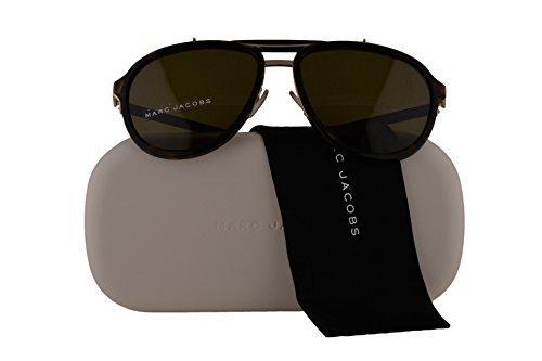 Marc Jacobs Authentic Sunglasses MJ592/S Havana Gold Black w/Brown Lens 546A6 MJ 592/S MJ592S (57mm) Authentic Marc Jacobs