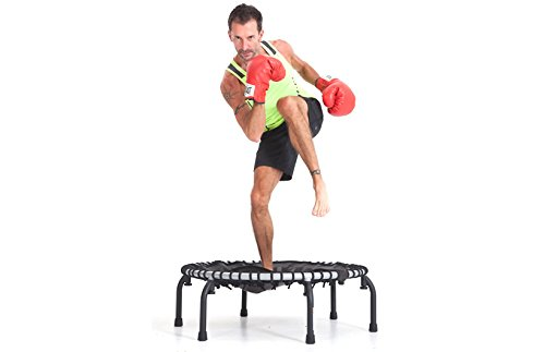 JumpSport 350F   Folding Fitness Trampoline, In-Home Rebounder   Easy Transport   No-Tip Arched Legs   Safe & Stable Bounce   Top Rated for Quality & Durability   4 Music Workout Videos Incl. by JumpSport (Image #3)