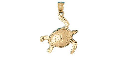 14k Yellow Gold Turtles Pendant 14k Yellow Gold Turtle Pendant