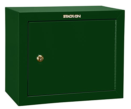 Stack-On GCG-900 Steel Pistol/Ammo Cabinet, (Green Gun Safe)