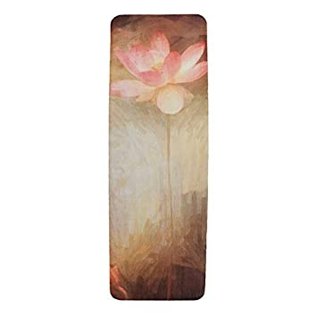 Alfombra de yoga Premium - Lotus llamativo, ecológico ...