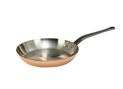 InoCuivre De Buyer - Sartén de cobre y acero inoxidable (mango de hierro, profesional): Amazon.es: Hogar