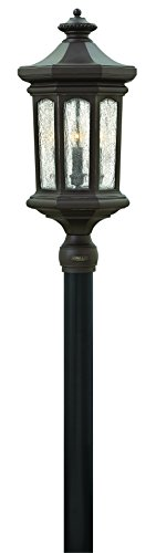 Hinkley 1601OZ Traditional Four Light Post Top/ Pier Mount from Raley collection in Bronze/Darkfinish, Raley Outdoor Lantern