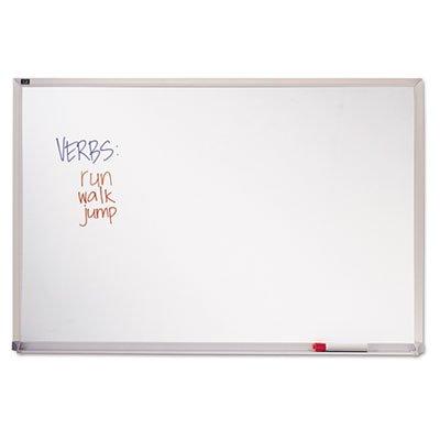 Melamine Whiteboard, Aluminum Frame, 96 x 48, Sold as 1 Each