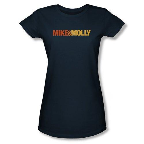 Mike & Molly Logo Juniors T-Shirt Small Navy