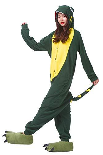 Verde Adulto Unisex Kigurumi Pijama Cosplay Cocodrilo Animal TfqwxAY