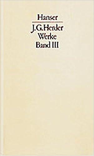 Book Werke, 3 Bde., Bd.3, Herders Geschichtsphilosophie