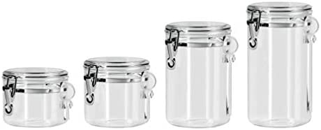 home, kitchen, kitchen, dining, storage, organization, food storage,  food storage, organization sets 10 image Oggi 4-Piece Acrylic Canister Set with Airtight in USA