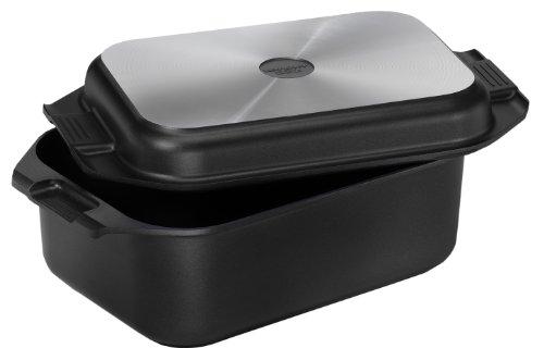 Karcher 121749 Aluguss-Bräter 2in1 (8,7 Liter, inkl. Deckel und Topfhandschuhen, 41,5 x 25,5 cm) schwarz