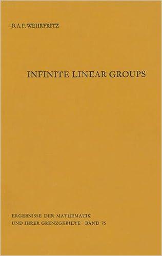 Infinite Linear Groups: An Account of the Group-theoretic Properties of Infinite Groups of Matrices (Ergebnisse der Mathematik und ihrer Grenzgebiete. 2. Folge)