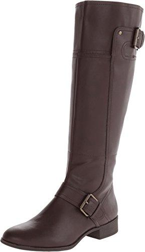 Nine West Women's Vermillion 3 Dark Brown Synthetic Boot 8.5 M