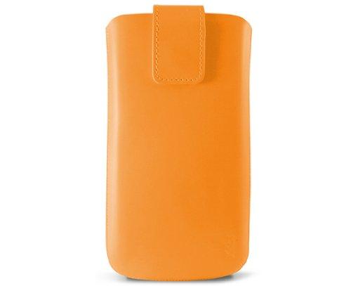 KSIX Neon 123 x 58 x 8 mm, étui en cuir pour iPhone-Orange