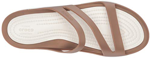 Swiftwater 6 oyster Women's Croslite Bronze bronze Slip Crocs 6 On Sandal Size Pw4WcqZ5