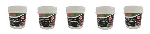 Rutland 12.5 lbs Tub Castable Cement - Mix with Water (Fire Clay) 2200 Degree (5-(Pack))