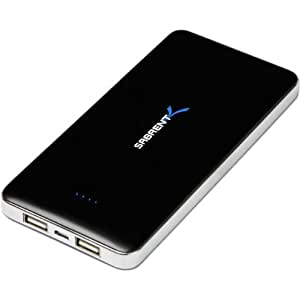 Sabrent 12000mAh High Capacity External Backup Battery Charger Power Bank Charger with Dual USB Port (PB-W120)