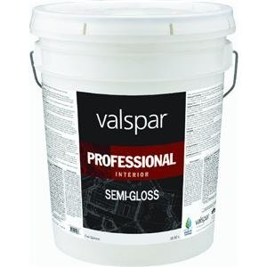 Valspar 11912 Medium Base Interior Professional Series Paint, 5 Gallon, Semi Gloss
