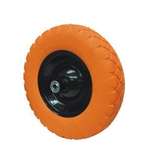 16-Inch Wheelbarrow Flat-Free Tire, #Cart-012F Orange Color by ucostore