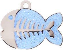 Fisch Katzenmarke Hellblau inkl gravur und schnellen, kostenfrei Lieferung (Bieten Sie Ihren Gravur Anweisungen als Geschenknachricht)