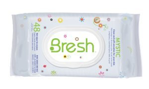 Bresh Diva Body Wipes for Women by BRESH, 48 Ct Facial Cleansing Brush, AROFUME Waterproof Electric Facial Exfoliator Microdermabrasion Scrub System for Advanced Skin Care with Dual Rotary Cleansing Brush and 2 Speeding Setting