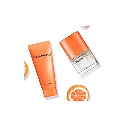 Clinique Happy Travel Set Perfume Spray .14oz/4ml & Body Cream .5oz/15ml - Lifestyle Updated
